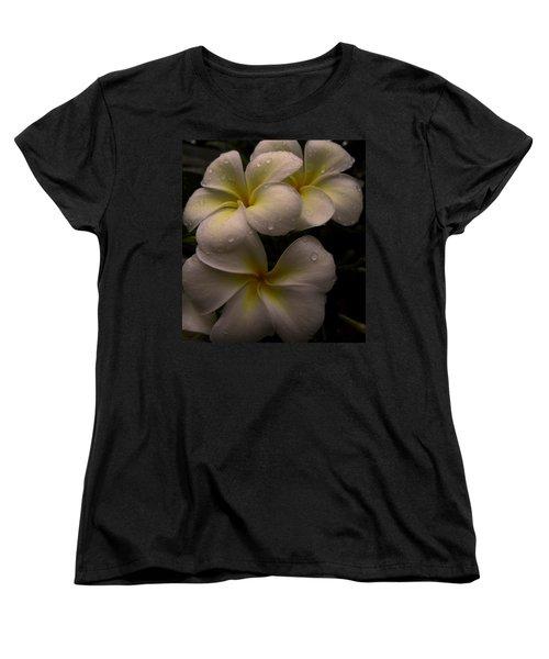 Plumeria Women's T-Shirt (Standard Cut) by Dorothy Cunningham