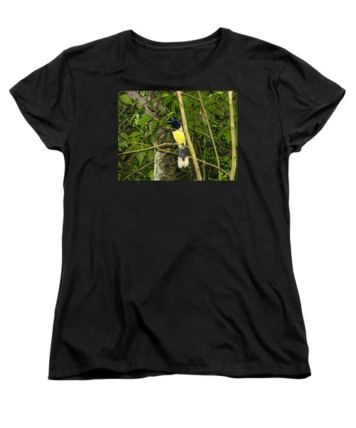 Women's T-Shirt (Standard Cut) featuring the photograph Plush-crested Jay by David Gleeson