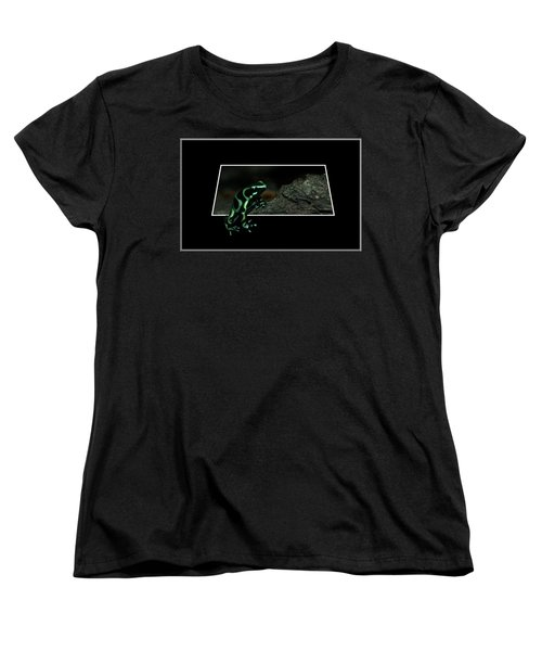 Poisonous Green Frog 02 Women's T-Shirt (Standard Cut) by Thomas Woolworth