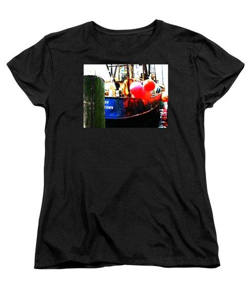 Women's T-Shirt (Standard Cut) featuring the photograph Port Of Galilee Number 1 by Lon Casler Bixby
