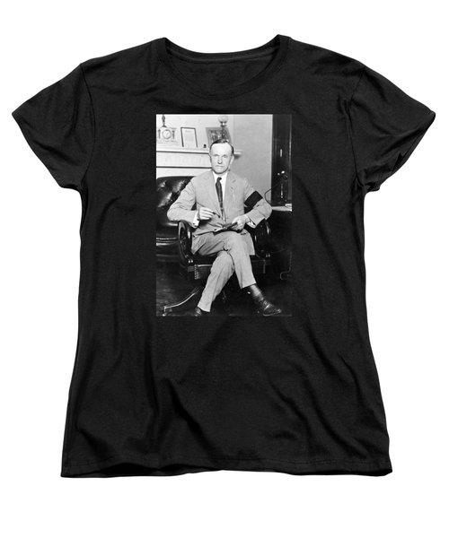 President Calvin Coolidge Women's T-Shirt (Standard Cut) by International  Images