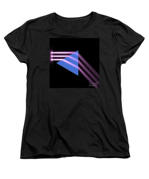 Women's T-Shirt (Standard Cut) featuring the digital art Prism 1 by Russell Kightley