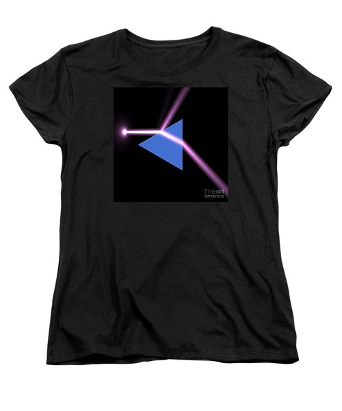 Women's T-Shirt (Standard Cut) featuring the digital art Prism 3 by Russell Kightley