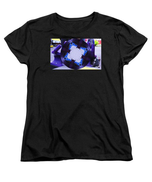Women's T-Shirt (Standard Cut) featuring the photograph Purple Magic Fingers Chair by Kym Backland