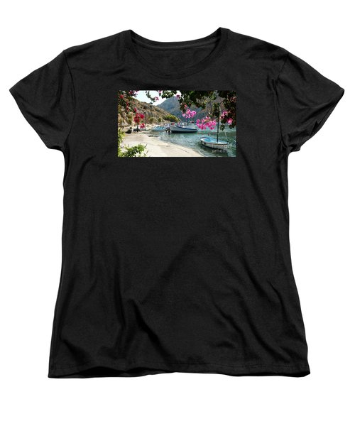 Quiet Cove Women's T-Shirt (Standard Cut) by Therese Alcorn