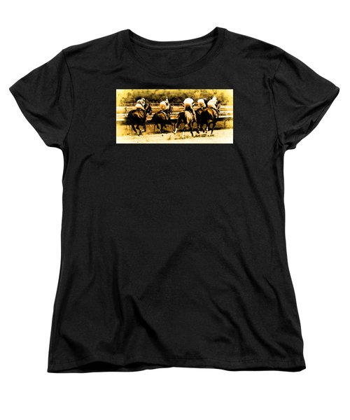 Women's T-Shirt (Standard Cut) featuring the photograph Race To The Finish Line by Alice Gipson