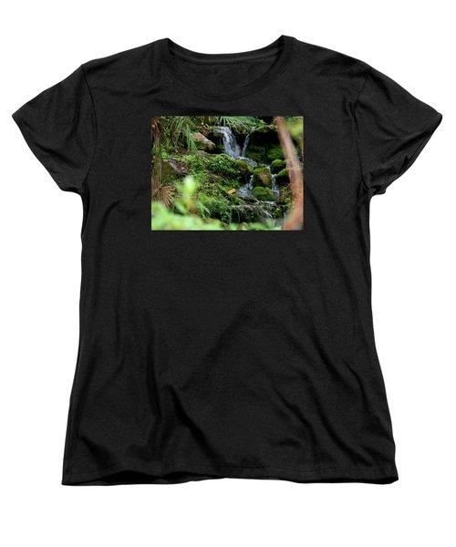 Rainbow Springs Waterfall Women's T-Shirt (Standard Cut) by Judy Wanamaker