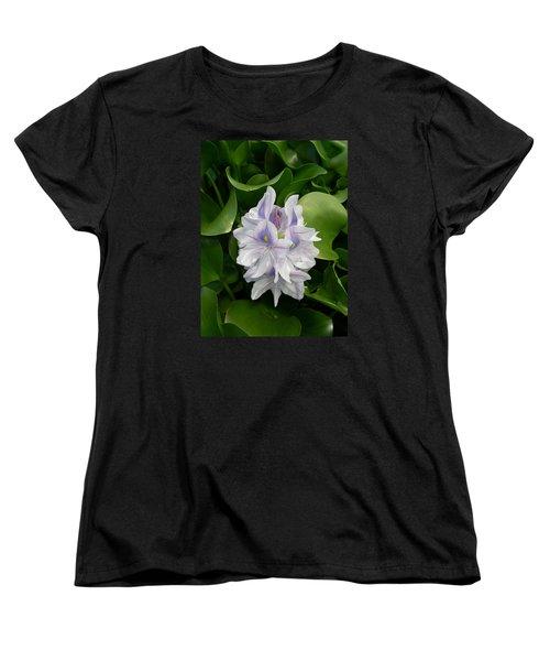 Women's T-Shirt (Standard Cut) featuring the digital art Rare Hawain Water Lilly by Claude McCoy