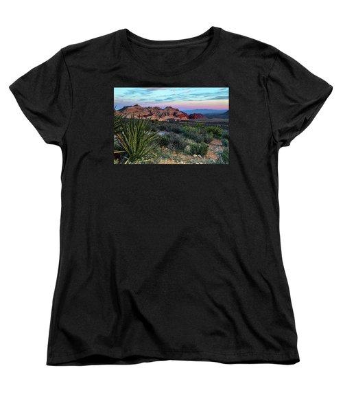 Red Rock Sunset II Women's T-Shirt (Standard Cut)