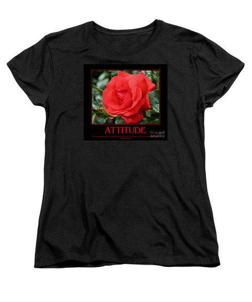 Red Rose Attitude Women's T-Shirt (Standard Cut) by Smilin Eyes  Treasures