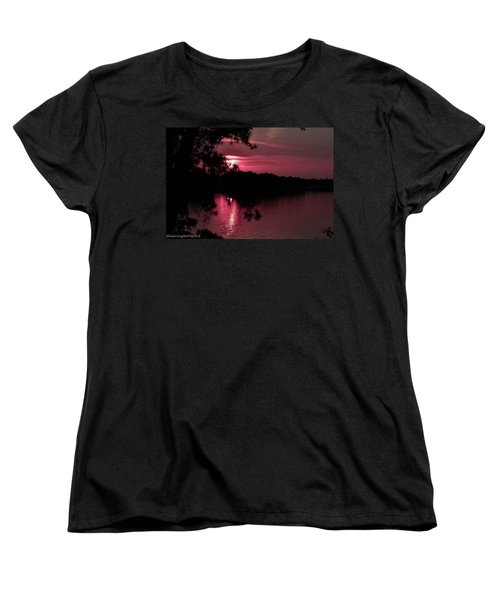 Red Sky At Night Women's T-Shirt (Standard Cut) by Shannon Harrington