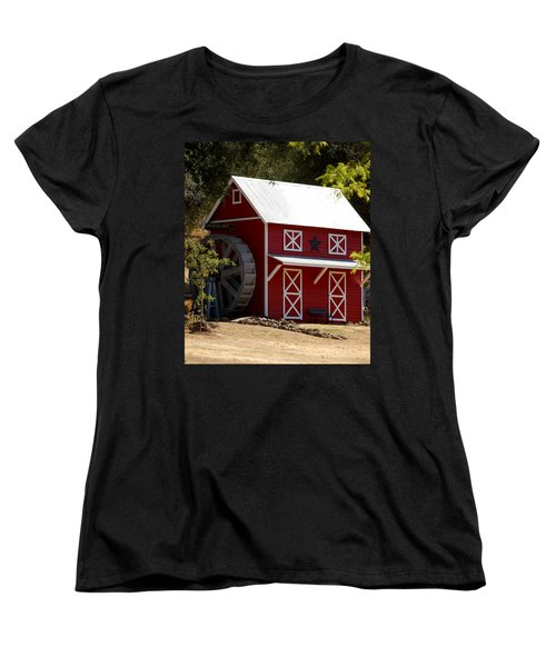 Red Star Barn Women's T-Shirt (Standard Cut) by Holly Blunkall