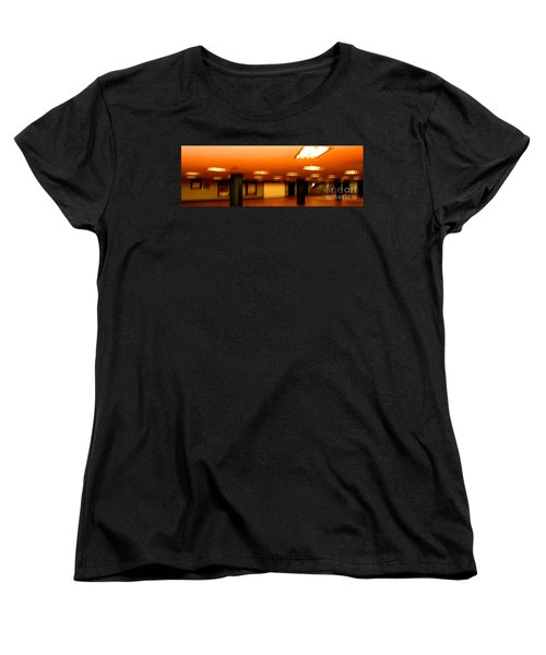 Women's T-Shirt (Standard Cut) featuring the photograph Red Subway by Andy Prendy