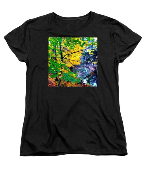Reed College Canyon Fall Leaves II Women's T-Shirt (Standard Cut) by Anna Porter