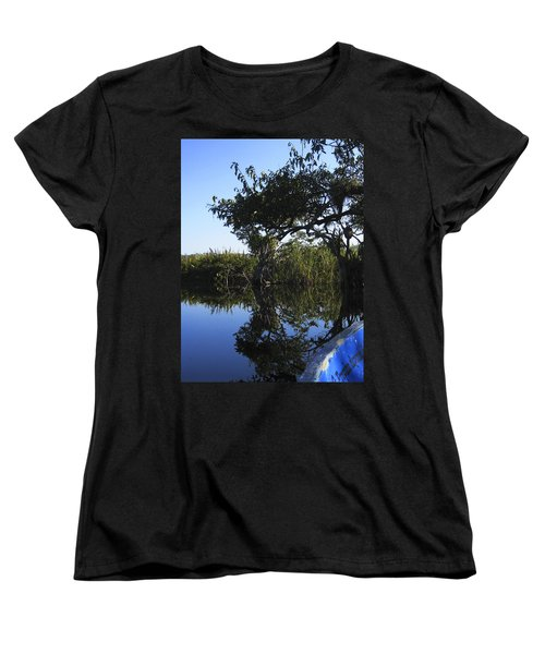 Women's T-Shirt (Standard Cut) featuring the photograph Reflection Of Arched Branches by Anne Mott