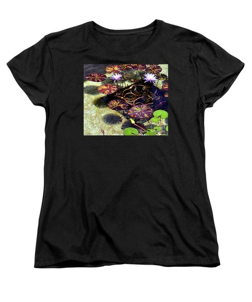 Reflections On Underwater Life Women's T-Shirt (Standard Cut) by Clayton Bruster