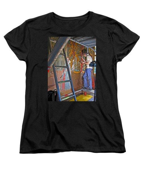 Women's T-Shirt (Standard Cut) featuring the photograph Restoring Art by Ann Horn