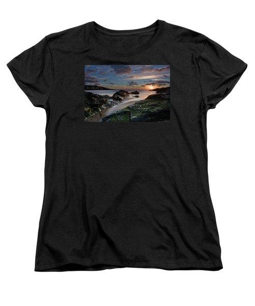 Women's T-Shirt (Standard Cut) featuring the photograph Rhosneigr Sunset  by Beverly Cash