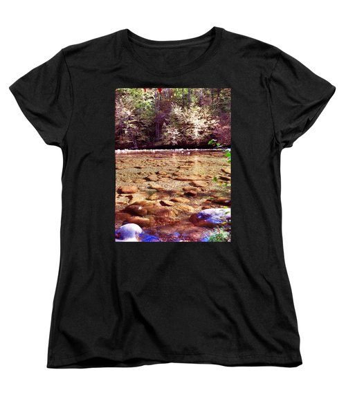 Women's T-Shirt (Standard Cut) featuring the photograph Rock Work by Janice Spivey