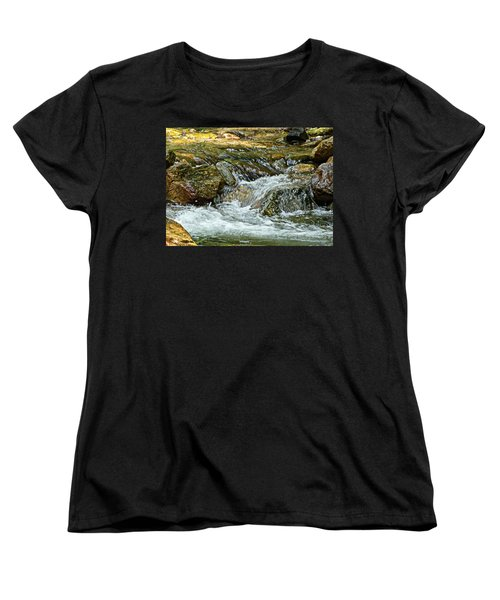 Women's T-Shirt (Standard Cut) featuring the photograph Rocky River by Lydia Holly