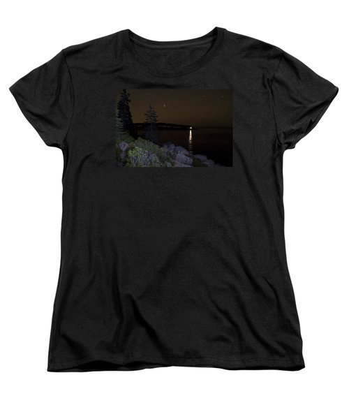 Rounding Otter Point Women's T-Shirt (Standard Cut) by Brent L Ander