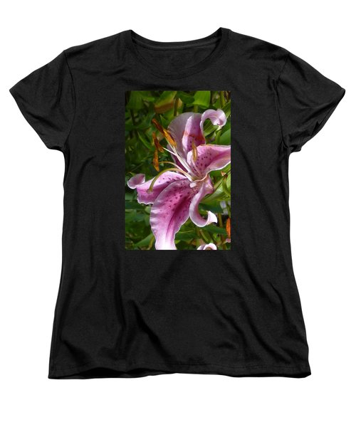 Women's T-Shirt (Standard Cut) featuring the photograph Rubrum Lily by Carla Parris