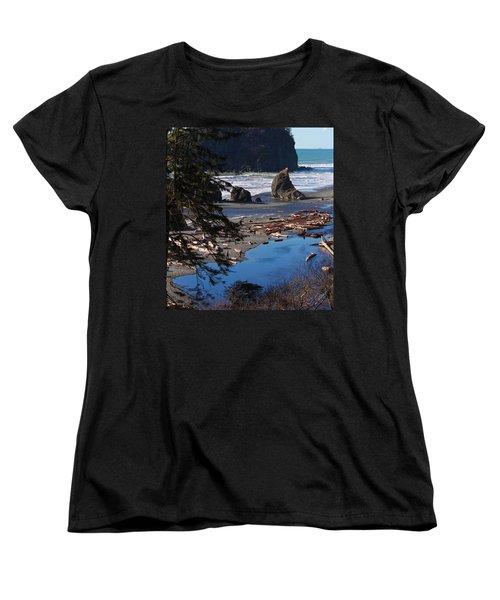 Ruby Beach IIi Women's T-Shirt (Standard Cut) by Jeanette C Landstrom