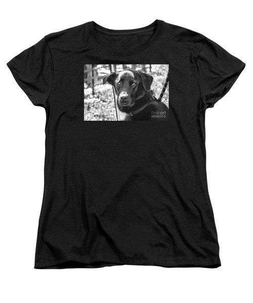 Sad Eyes Women's T-Shirt (Standard Cut) by Eunice Gibb