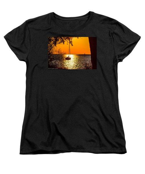 Women's T-Shirt (Standard Cut) featuring the photograph Sail Away by Shannon Harrington