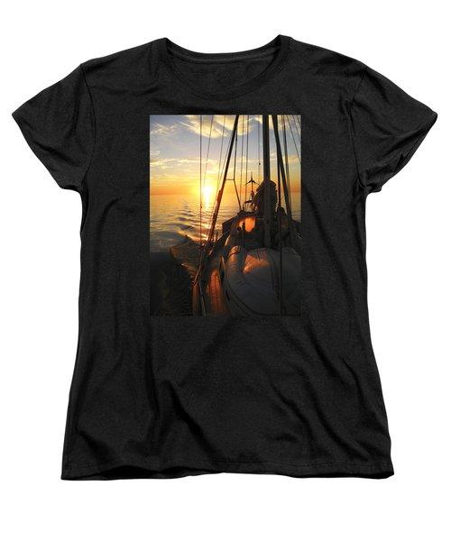 Sailing Women's T-Shirt (Standard Cut) by Anne Mott