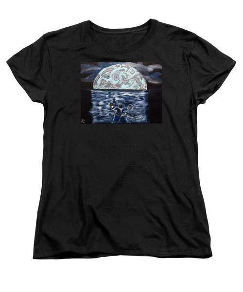 Women's T-Shirt (Standard Cut) featuring the painting Sea Of Troubles by Lisa Brandel