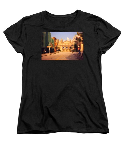 Women's T-Shirt (Standard Cut) featuring the photograph Seaport Tiltshift by EricaMaxine  Price