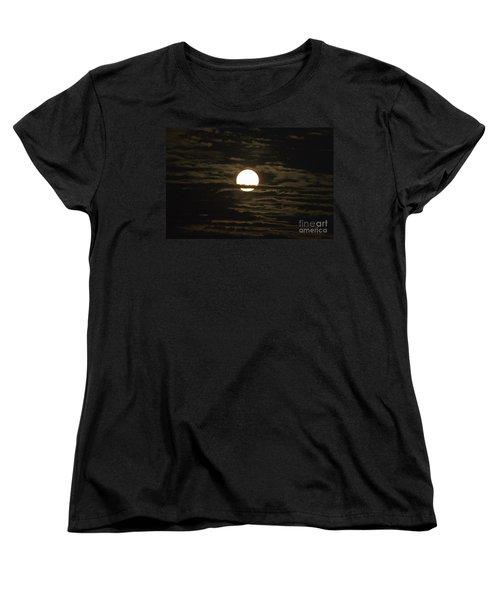 Women's T-Shirt (Standard Cut) featuring the photograph Seneca Lake Moon by William Norton