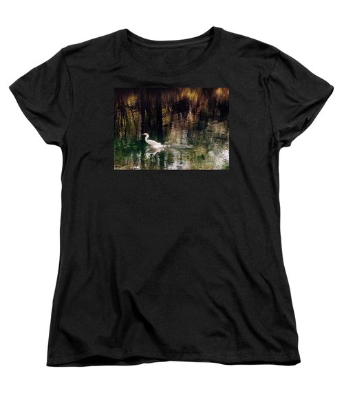 Women's T-Shirt (Standard Cut) featuring the photograph Shadowwaters by Lydia Holly