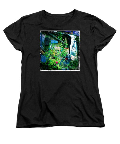 Women's T-Shirt (Standard Cut) featuring the photograph Sign Wall by Nina Prommer