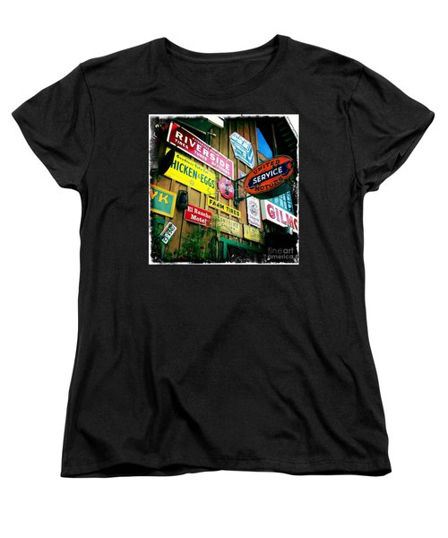 Women's T-Shirt (Standard Cut) featuring the photograph Signs Of A Great Place by Nina Prommer