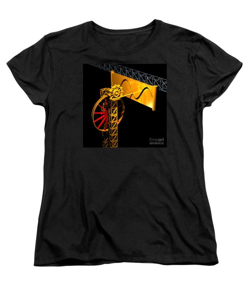Sine Wave Machine Women's T-Shirt (Standard Cut) by Russell Kightley