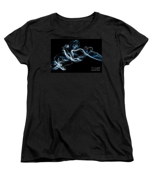 Women's T-Shirt (Standard Cut) featuring the photograph Smoke-2 by Larry Carr