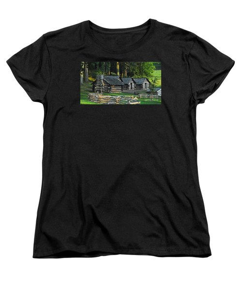 Soldiers Quarters At Valley Forge Women's T-Shirt (Standard Cut) by Cindy Manero