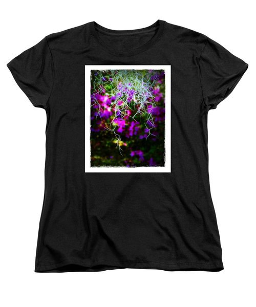 Spanish Moss And Azaleas Women's T-Shirt (Standard Cut) by Judi Bagwell