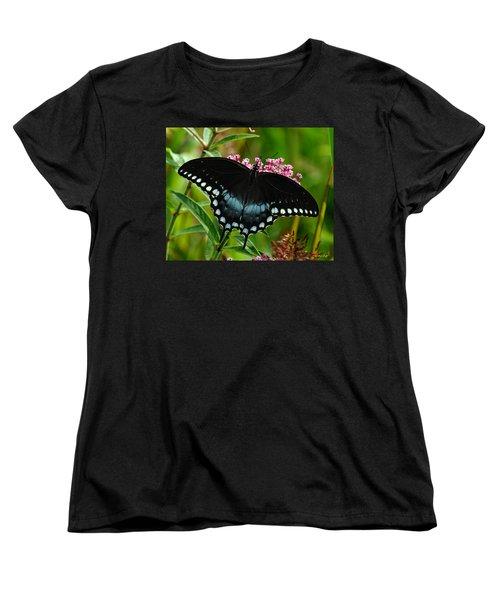 Spicebush Swallowtail Din038 Women's T-Shirt (Standard Cut) by Gerry Gantt