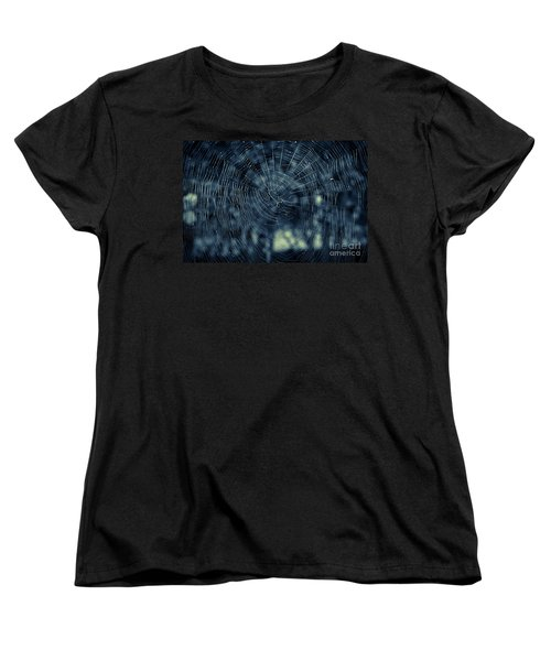 Women's T-Shirt (Standard Cut) featuring the photograph Spider Web by Matt Malloy