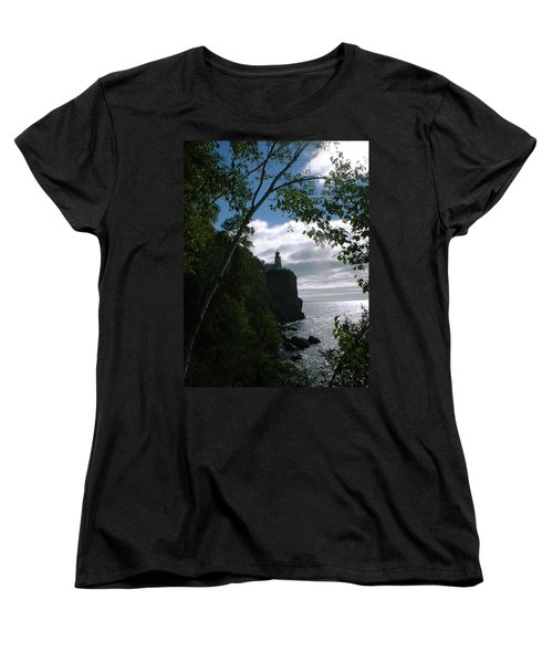 Women's T-Shirt (Standard Cut) featuring the photograph Split Rock II by Bonfire Photography