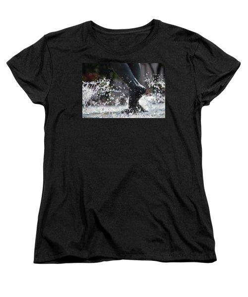 Women's T-Shirt (Standard Cut) featuring the photograph Sploosh by Stephanie Nuttall