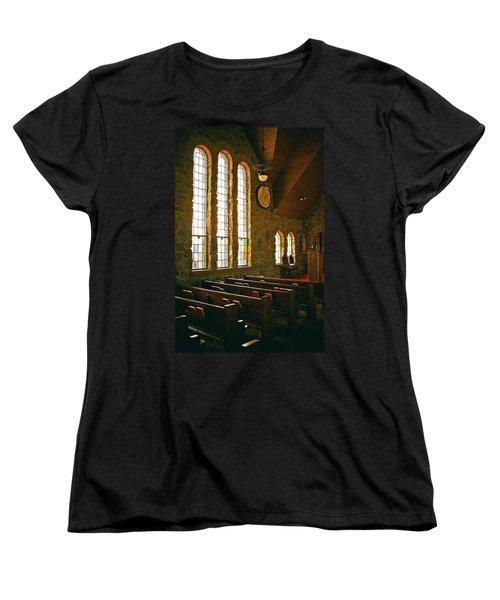 Women's T-Shirt (Standard Cut) featuring the photograph St Malo Church by David Pantuso