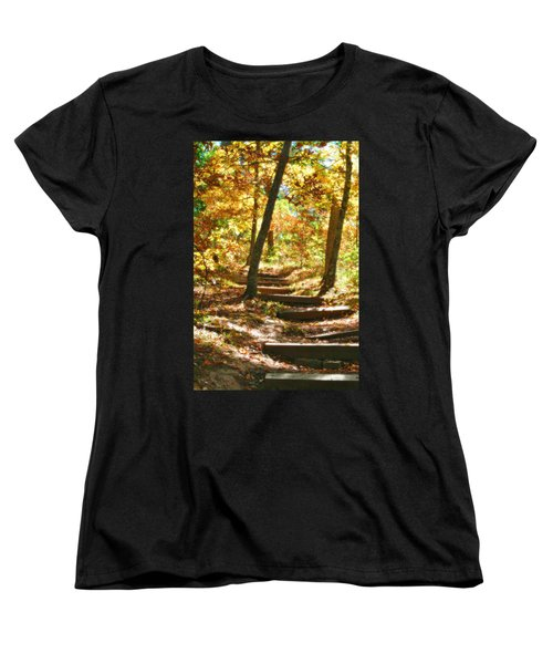 Women's T-Shirt (Standard Cut) featuring the photograph Stairway To Heaven by Peggy Franz
