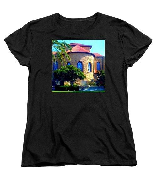 Stanford University Chapel - Palo Alto Ca Women's T-Shirt (Standard Cut) by Anna Porter