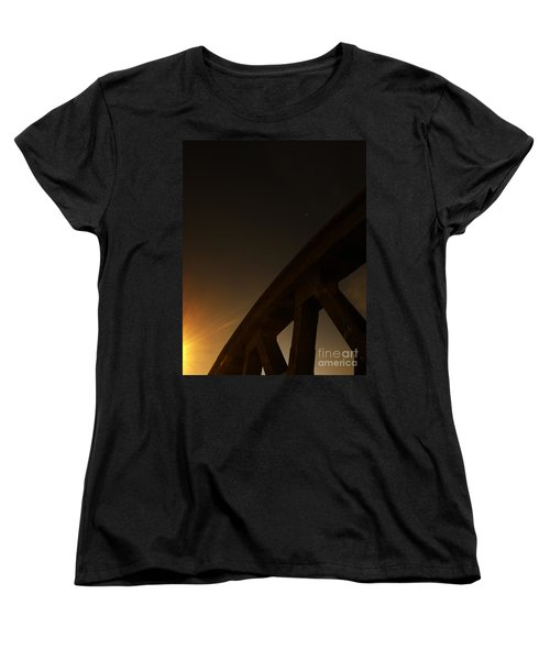 Women's T-Shirt (Standard Cut) featuring the photograph Starry Night On Sunset Bridge by Andy Prendy