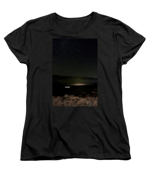 Stars Over Otter Cove Women's T-Shirt (Standard Cut) by Brent L Ander