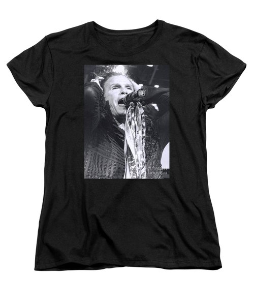 Steven Tyler Rocks It Women's T-Shirt (Standard Cut) by Traci Cottingham